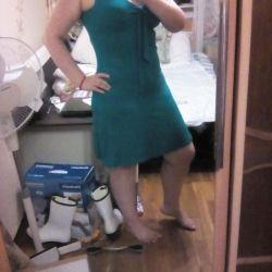 Набор бирюзового (платье, часы) + парфюм