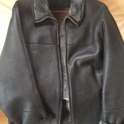 Palton natural de piele de oaie