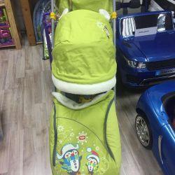 Children's sledges stroller Nika children 6