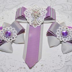 Set of handmade accessories.