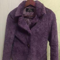 Μεταχειρισμένο σύντομο γούνινο παλτό τεχνητό 42 μέγεθος