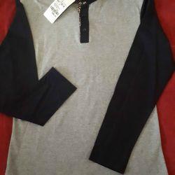 Рубашка трикотажная на 3х пуговицах