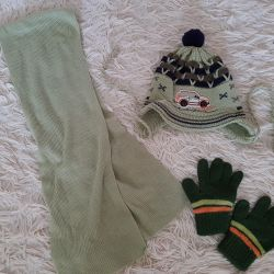 Set (hat, scarf and gloves)