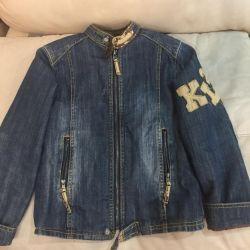 Куртка джинсовая утеплeнная на 6-7лет