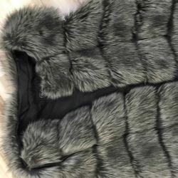 Vesta din blană faux, mărime 44-46