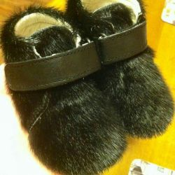 Boots from the fur of the seal