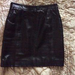 Leather skirt red Valentino 38 um original