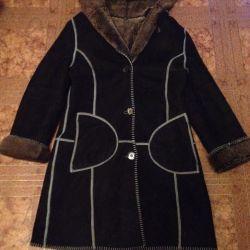 Sheepskin coat natural urgently