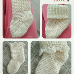 Baby socks from merino are very soft and warm!