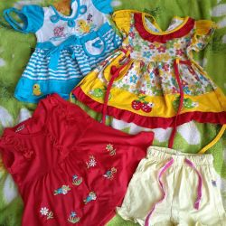 Clothing package for girls