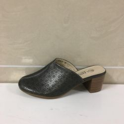 Clogs with heels gray 35