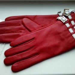 Orijinal deriden eldiven Versace, kırmızı