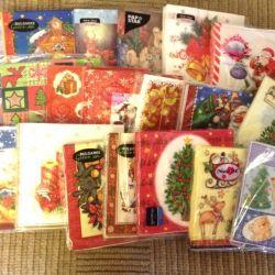 Christmas napkins for decoupage