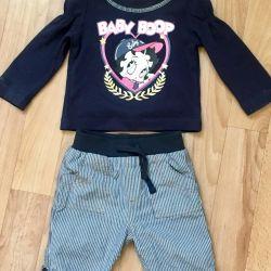 Τζιν κοστούμι για νεογέννητα 0-3