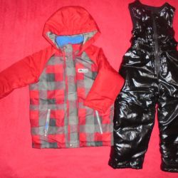 Winter jacket and semi-overalls for 110-116cm.