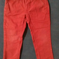 Jeans HM. Red and green colors.