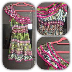 Платье на лето на мягкой резинке