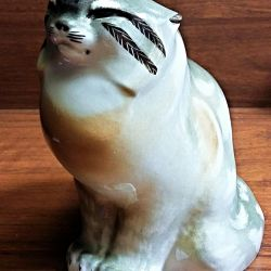 Porselen heykelcik Vahşi kedi LFZ 1. Sınıf