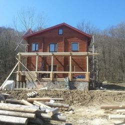 Construction of any structures from the log house
