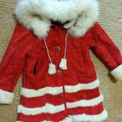 Sheepskin coat for children new