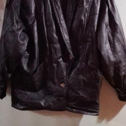 Leather women's jacket.