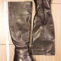 Сапоги еврозима черные 36-37 размер нат кожа