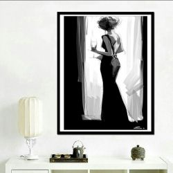 Set for diamond embroidery Woman in black