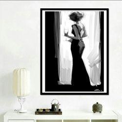 Set pentru broderie cu diamante Femeie în negru