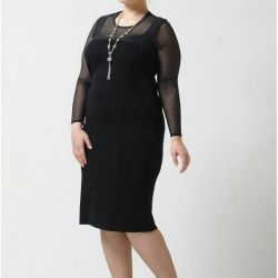 The dress is new evening. Size50-52