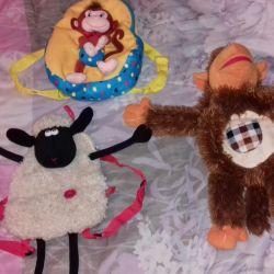 Детские рюкзачки-игрушки
