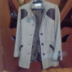 Пальто шерстяное, 44-46