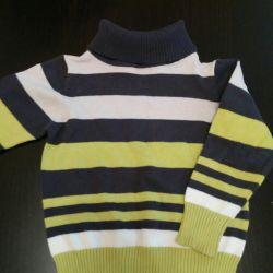 Λεπτό πουλόβερ για ένα αγόρι 6 μηνών