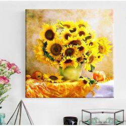 Diamond display sunflower