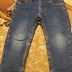 Warm jeans...