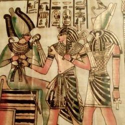 Папирус в рамке ,картина