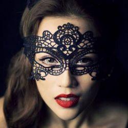 Новые чeрное кружевные маски маскарад