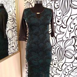Платье зелeное