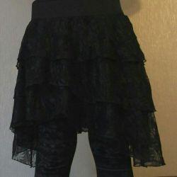 Черная юбка пышная в готическом стиле Ginatricot