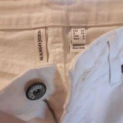 New Mango White Jeans
