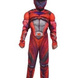 Muscular Red Ranger Costume
