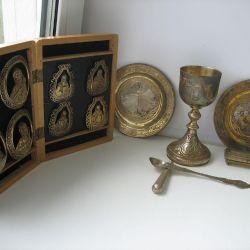 Church utensils. Complex. Serebro 84
