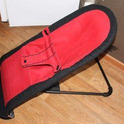 Deckchair BabyBjorn roșu și negru