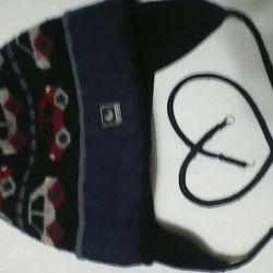 Hat + scarf. Winter.