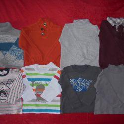 Sweatshirts, turtlenecks, sweaters for height 92-98cm.