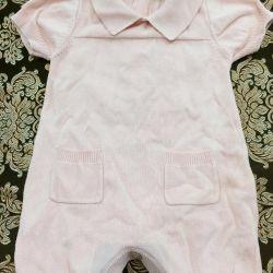 Baby bodysuit, sandbox for girls, warm, knitwear