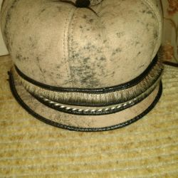 Warm hat made of sheepskin