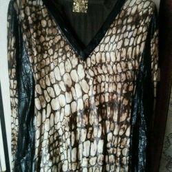 Blouse, very stylish, light, (imitation leather)