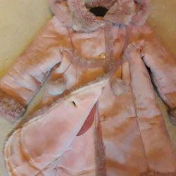 Kız için koyun derisi ceket