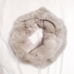New ZARA Snood Fur Scarf