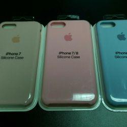 Чехлы силиконовые оригинальные iPhone 7